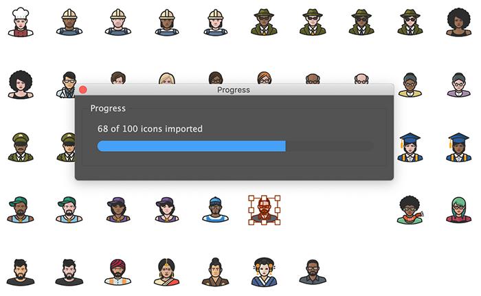 Contact Sheet progress bar