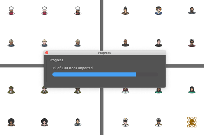 Icon Packager progress bar