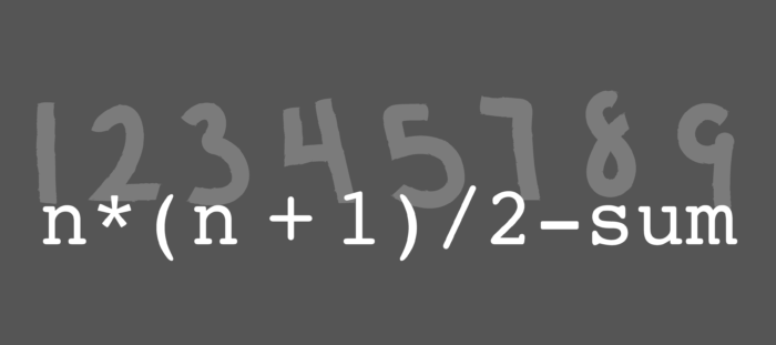 Missing number equation